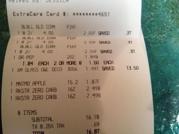 owl receipt